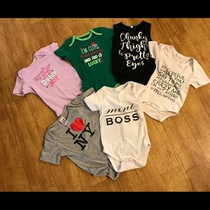 One Pieces - 6 onesies 18-24 months
